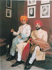 Tikka Raja Shatrujit Singh of Kapurthala Maharaj Kumar Suryajit Singh of Kapurthala