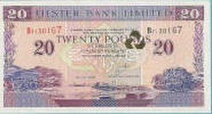 Banknotes of Northern Ireland - A £20 Ulster Bank note.