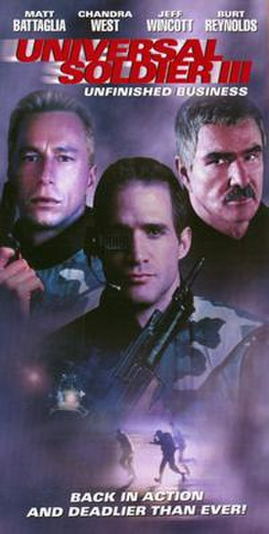 Universal Soldier III: Unfinished Business - Image: Universal Soldier III poster