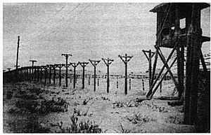 Perimeter fence and watchtower, Vorkuta Gulag