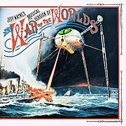 Martian tripod on the album cover of Jeff Wayne's Musical Version of The War of the Worlds.