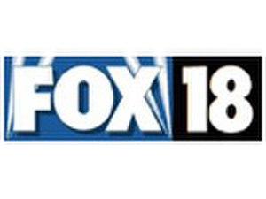 "WCCB - Former logo as ""Fox 18"", used from 1996 to 2002."