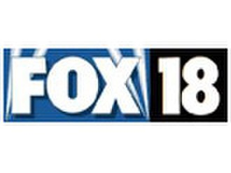 """WCCB - Former logo as """"Fox 18"""", used from 1996 to 2002."""