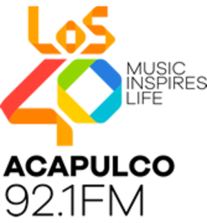 XHACD-FM - Logo used 2016-17 with the Los 40 format