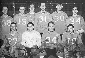 Bowling Green Falcons men's ice hockey - Team photo of BG's first intercollegiate hockey team in 1965.