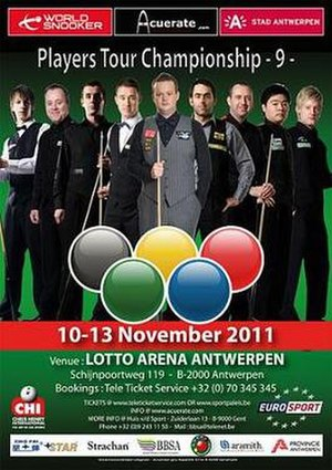 Players Tour Championship 2011/2012 – Event 9 - Image: 2011 Acuerate Antwerp Open poster
