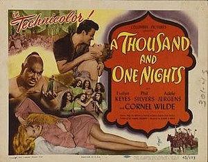 A Thousand and One Nights (1945 film) - original film poster