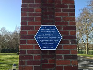 Atomic Energy Research Establishment - Harwell Laboratory blue plaque