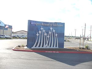 Aerospace Museum of California - Image: Aerospace Museumof Californiafrontsign