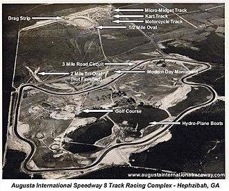 Augusta International Raceway - Image: Augusta International Raceway 8 Track Racing Complex