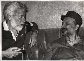 Uri Avnery - Avnery with Yassir Arafat in Beirut, July 1982