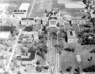 Bowling Green State University - Aerial view of the campus, circa early 1930s.