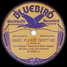 Baby, Please Don't Go Williams single cover.jpg
