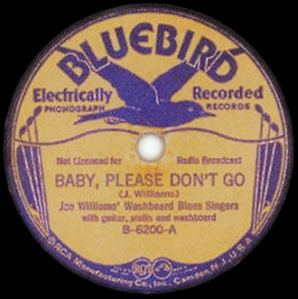 Baby, Please Don't Go - Image: Baby, Please Don't Go Williams single cover