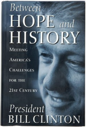 Between Hope and History - Image: Between Hope and History (Bill Clinton book) cover art