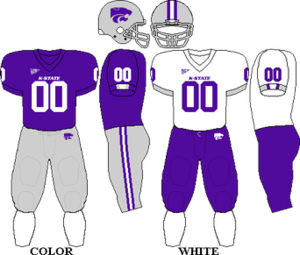 2008 Kansas State Wildcats football team - Image: Big 12 Uniform KSU 2007 2009