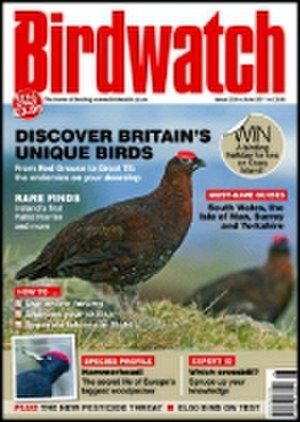 Birdwatch (magazine) - Cover of June 2011 edition, featuring a Red Grouse