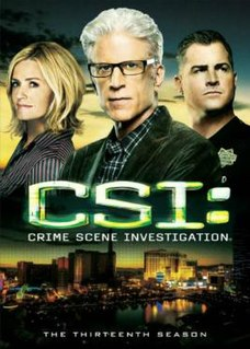 <i>CSI: Crime Scene Investigation</i> (season 13) Season of American television series CSI: Crime Scene Investigation