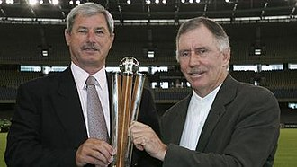 Chappell–Hadlee Trophy - Image: Chappell Hadlee Trophy with its named persons