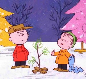 A Charlie Brown Christmas - Charlie Brown (left) and Linus (right) with the Charlie Brown Christmas Tree