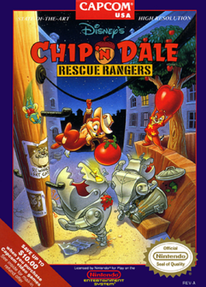 Chip 'n Dale Rescue Rangers (video game) - Image: Chip 'n Dale Rescue Rangers NES Cover