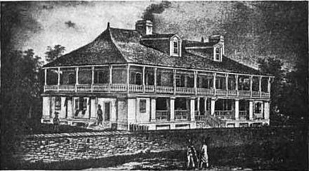 The home of Auguste Chouteau in St. Louis. Chouteau and Pierre Laclede founded St. Louis in 1764. ChouteauMansion.jpg