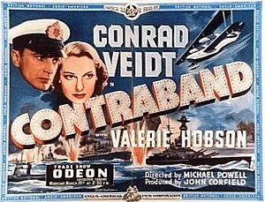 Contraband (1940 film) - poster from trade screening 20 March 1940