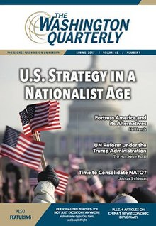Cover of The Washington Quarterly, volume 40, no 1.jpg
