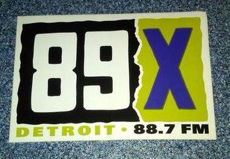 CIMX-FM - Image: Detroit radio 89X decal circa 1991