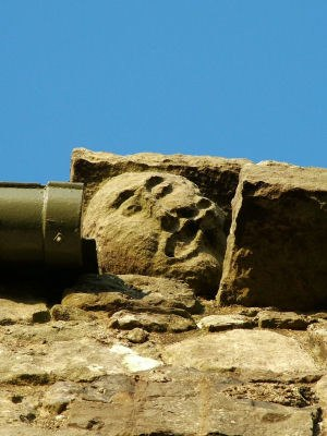 John de Menteith - The little gargoyle head of the Fause Menteith on the 16th century guard house at Dumbarton Castle
