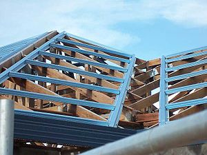 Purlin - Image: Fixed metal purlins