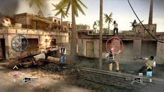 Heavy Fire - A gameplay screenshot of Heavy Fire: Special Operations presenting a co-operative multiplayer mode.
