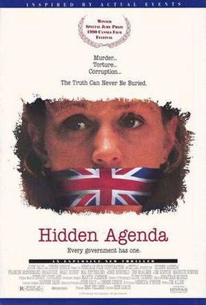 Hidden Agenda (1990 film) - Theatrical release poster