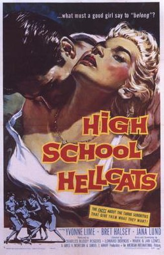 High School Hellcats - Theatrical poster to High School Hellcats (1958)