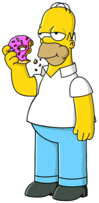 Homer Simpson - Homer eating a doughnut