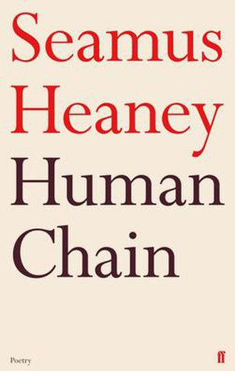 Human Chain (poetry collection) - Cover of British hardback edition