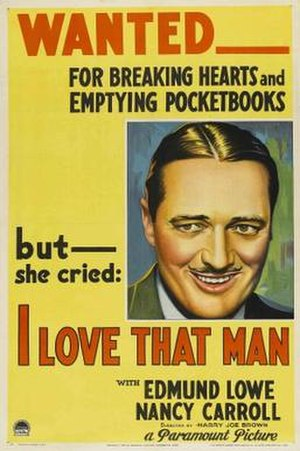 I Love That Man - Theatrical release poster