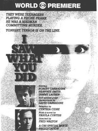 I Saw What You Did (1988 film) - Promotional advertisement