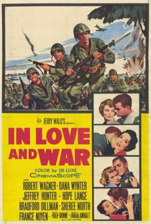 In Love and War (1958 film) - Theatrical release poster