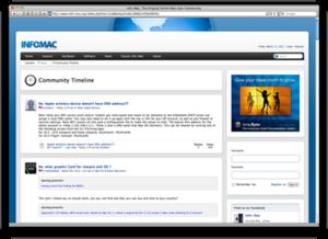 Info-Mac - Image: Info mac homepage