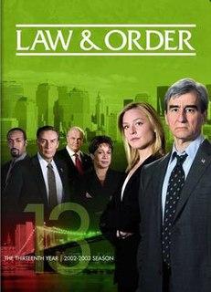 <i>Law & Order</i> (season 13) Season of television series