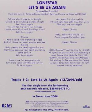 Let's Be Us Again (song) - Image: Lonestar lbua cover