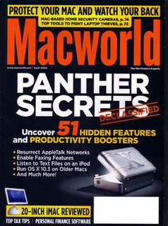 <i>Macworld</i> web site and monthly computer magazine dedicated to products and software from Apple