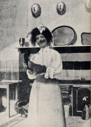 Laura Bayley - Bayley in costume for Mary Jane's Mishap (1903)