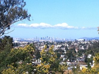 Millsmont, Oakland, California - A view from Outlook Ave. in Millsmont