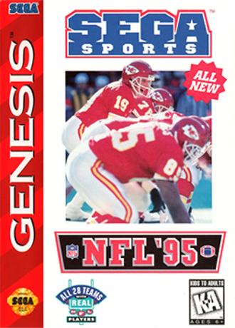 NFL '95 - Cover art (Sega Genesis)