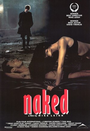 Naked (1993 film) - UK poster