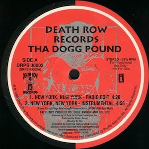 New York, New York (Tha Dogg Pound song) - Image: New York, New York cover