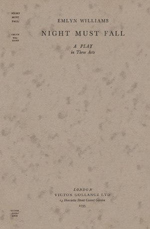 Night Must Fall - First edition (1935)