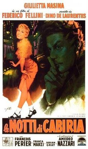 Nights of Cabiria - Theatrical release poster